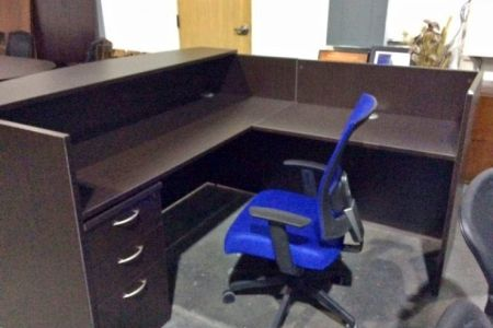 Used L-Shaped Desk & Chair