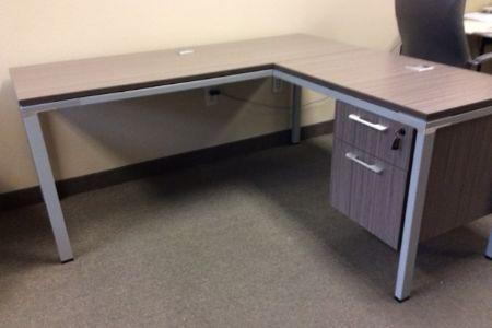 Metal L Desk